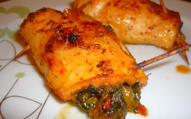 Ispanaklı Tavuk Sarma